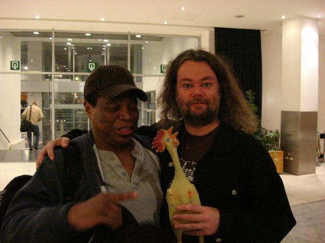 Ray White, some rubber chicken and bazbo - picture taken by LudzNL