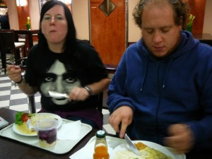 646 Ethell and Billy having dinner in Hannover