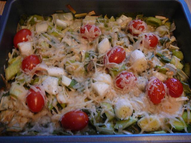 Prei en tomaatjes uit de oven - Leeks and tomatoes in the oven - Monday, August 4, 2008