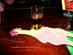 091 Hamburg - a rubber chicken in Finnigans Wake