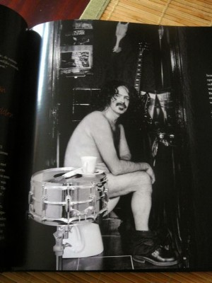 Lex pictured as his hero Frank Zappa