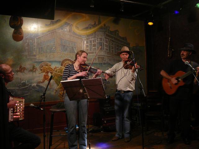 Lexolo & Friends - Art Café 'Sam Sam', Apeldoorn - April 5, 2009 - Bruno, ke, Bert & Lex