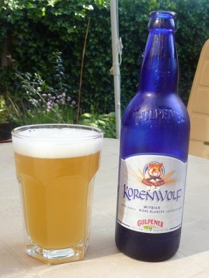 ... relaxing with some of the finest Gulpener Korenwolf witbier - May 24, 2009