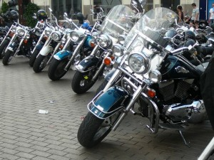 oneindig veel motoren - an endless row of motor bikes