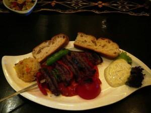 bazbo's dinner - kalfsvlees gevuld met geitenkaas