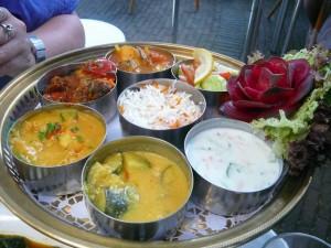 E's hoofdgerecht - Indiase rijsttafel