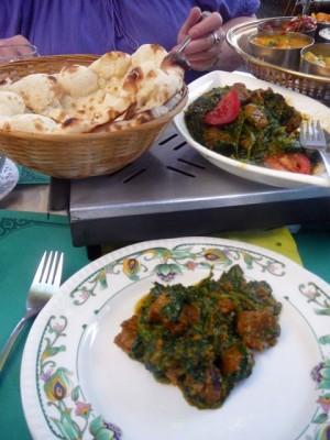 bazbo's hoofdgerecht - lamsvlees met spinazie