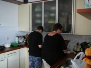 Druk met voorbereiden in de keuken