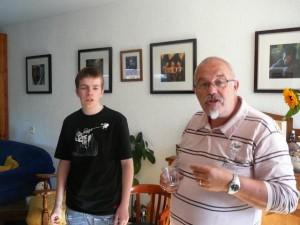 Luuk en zijn studiebegeleider dhr. Rinia