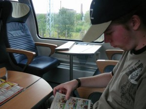 519 Luuk in the train to Hamburg