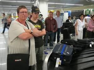010 wachten op de bagage