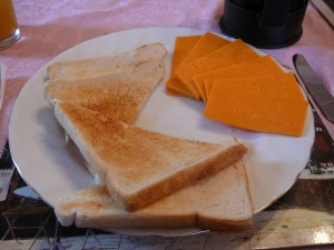 029 bazbos breakfast - toast and cheese