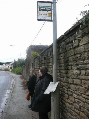 031 ModifiedDog waiting for the bus to Bath