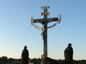 042 op de Karelsbrug - crucifix uit de 17e eeuw