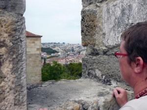 043 uitzicht vanaf het Castelo