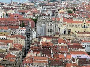 057 uitzicht op de Elevador de Santa Gusta en de Igreja de Como