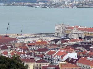 062 uitzicht op het Praça do Comércio
