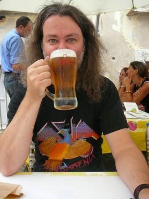 070 met Sagres bier