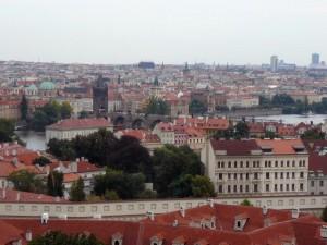 154 uitzicht van de Praagse Burcht - Kleine Zijde en Oude Stad