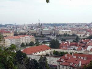 155 uitzicht van de Praagse Burcht - Kleine Zijde en Joodse Wijk