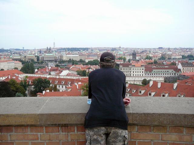 156 uitzicht van de Praagse Burcht - Kleine Zijde en Joodse Wijk