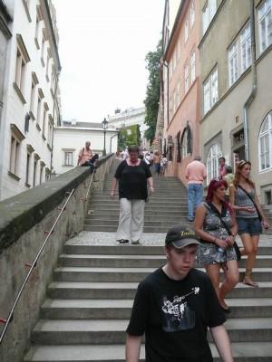 172 trap van Praagse Burcht naar Kleine Zijde