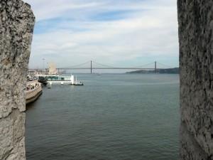 256 Torre de Belém - uitzicht over de Tejo
