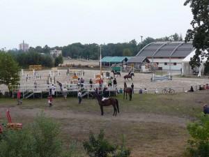 291 Paardenwedstrijden onderweg terug naar de boot