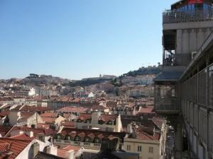 302 uitzicht vanaf de Elevador de Santa Justa
