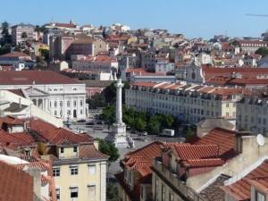 304 uitzicht vanaf de Elevador de Santa Justa - Rossio