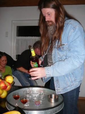 Georg's friend from DDR servers Spreewasser liquer