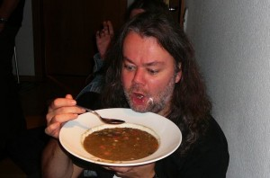 12 bazbo enjoys Georg's lentil soup (and the next day too, btw)