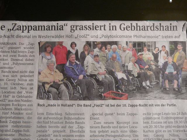 13 A strange picture in the local newspaper? Or is it a joke by Georg?