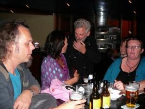 In Gigant Café: Auke, hidihi, strangefellow & E