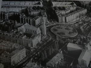 oude luchtfoto van Amsterdam-Oud Zuid - met de Agneskerk waar oma kosteres was