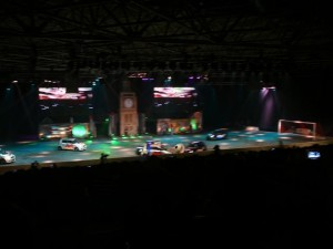 Top Gear live show - Rai, Amsterdam - January 23, 2010 - playing football in cars