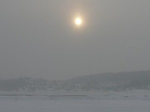 085 Larvik lagoon in fog