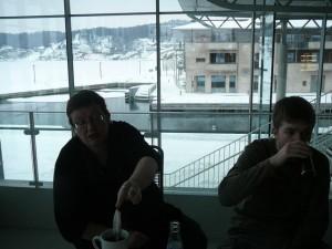 094 ModifiedDog & Luuk having tea in the Kulturhus