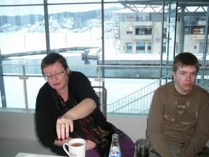 095 ModifiedDog & Luuk in the Borgen Kulturhus
