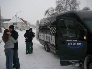 160 taxi van has arrived