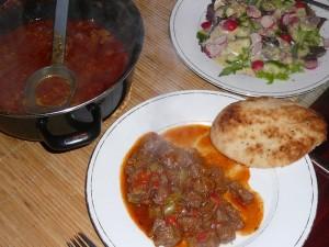 Turkse stoofpot van sucadelappen met paprika en tomaat - 21 maart 2010