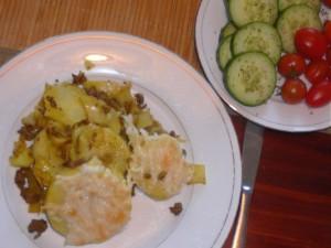 aardappelen, pastinaak en gehakt met kerrie uit de oven - April 1, 2010