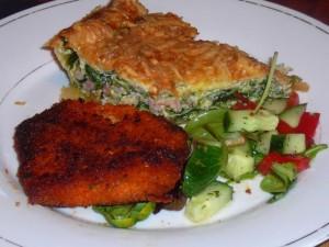 met een schnitzel en salade - April 4, 2010