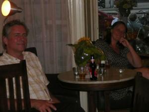 pauze met Guus (?) en Ernie