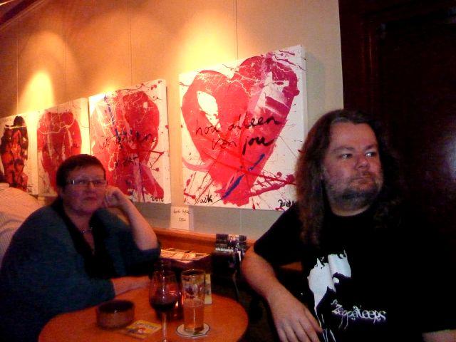 E & bazbo - Art Café 'Sam Sam' - April 4, 2010 (foto: Auke)