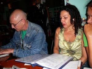 015 Magdalena and BaldHeadedJohn waiting for food