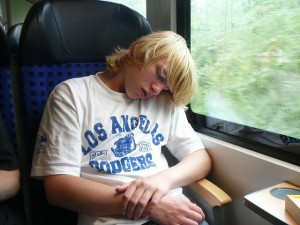372 Freek on the train to Hamburg