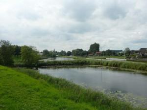 zicht op Bodegraven vanaf Fort Wierickerschans