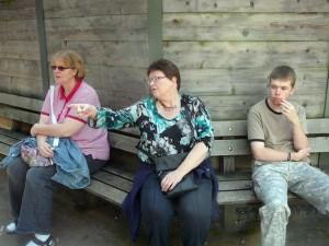 Gera, E & Luuk having a break