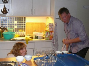 Ingrid & Robert verzorgen de drankjes